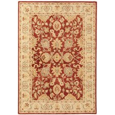 Handgetufteter Teppich Agra Twist in Rot