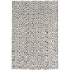 Handgewebter Teppich Ives in Schwarz / Weiß