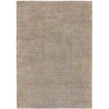 Handgewebter Teppich Ives in Braun
