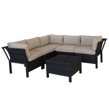 Napa 6 Piece Sectional Deep Seating Group with Cushions
