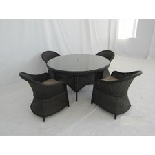 Antigua 5 Piece Dining Set with Cushions