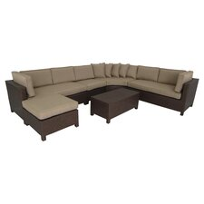 Salinas 6 Piece Sectional Deep Seating Group with Cushions