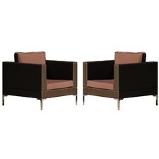 Metro Club Chair with Cushions (Set of 2)
