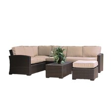 South Seas Corner Sectional 6 Piece Seating Group with Cushions