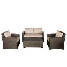 South Seas Loveseat 4 Piece Seating Group with Cushions