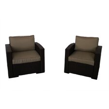 South Seas Club Chair with Cushions (Set of 2)