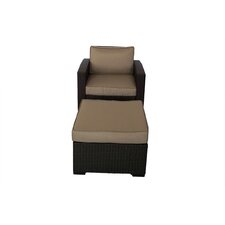 South Seas Club Chair and Ottoman with Cushions