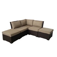 South Seas Corner Arrow Sectional 5 Piece Seating Group with Cushions