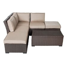 South Seas Corner Arrow Sectional 6 Piece Seating Group with Cushions