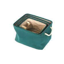 3 Piece Square Folding Storage Basket Set