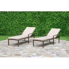 Chapel Hill Chaise Lounge Set with Cushion (Set of 2)
