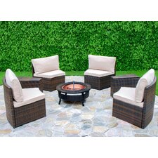 Chapel Hill 6 Piece Curved Seating Group with Cushion