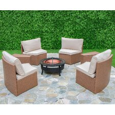 Cedar Cove 6 Piece Curved Seating Group with Cushions