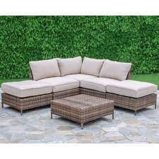 North Shore 6 Piece Arrow Deep Seating Group with Cushions