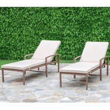 Cedar Cove Chaise Lounge with Cushion (Set of 2)