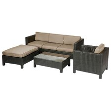 Raven 4 Piece Deep Seating Group with Cushion