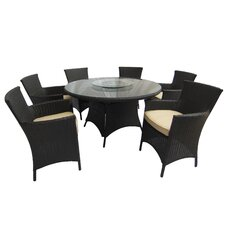Raven 7 Piece Dining Set with Cushions