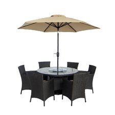 Raven 9 Piece Dining Set with Cushions