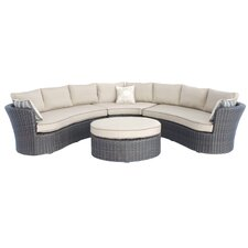 Antigua 4 Piece Sectional Deep Seating Group with Cushions