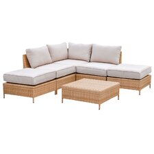 Golden Bay 6 Piece Arrow Deep Seating Group with Cushions