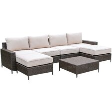 Palm Cove 7 Piece Deep Seating Group with Cushion