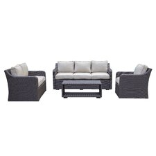 Nouth Beach Sofa & Loveseat 4 Piece Deep Seating Group with Cushion