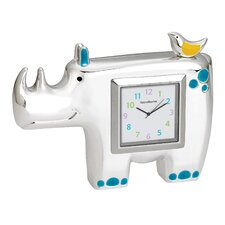 Jungle Parade Rhino Clock
