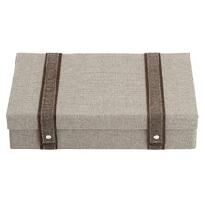 Natural Instinct Taupe Woven Flatware Chest