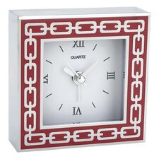 Silver Link Wall Clock