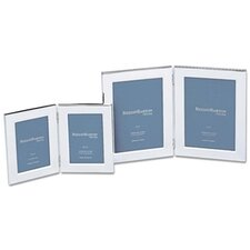 """Silver Plated Giftware 5"""" x 7"""" Classic Channel Double Frame"""