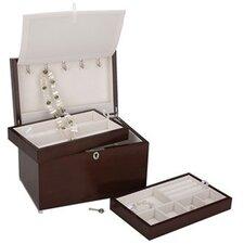 """Haley"" Jewelry Chest with 2 Trays"