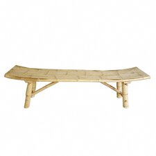 Hand Crafted Indoor / Outdoor Bamboo Picnic Bench