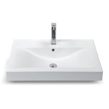 Mona Rectangle Ceramic Bathroom Sink