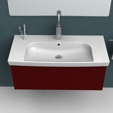 Roma Rectangle White Ceramic Wall Mounted or Self Rimming Sink with Overflow