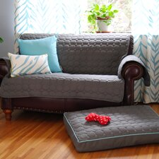 Circle Quilted Pillow Dog Bed