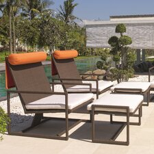 Malibu Lounge Chair and Ottoman with Cushions