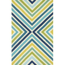 Palm Springs Blue/Green Indoor/Outdoor Area Rug