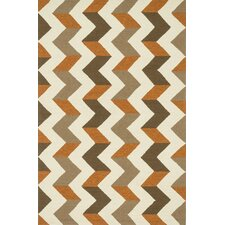 Palm Springs Brown/Orange Indoor/Outdoor Area Rug