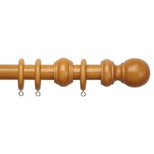 County Single Curtain Rod and Hardware Set