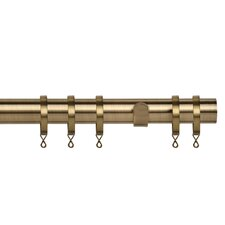 Poles Apart Single Curtain Rod and Hardware Set