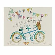 'Life..Joy Ride' Bike by Sally Sharp Painting Print on Canvas