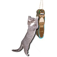 Scratch 'n Shapes Hanging Squirrel Cardboard Scratching Board