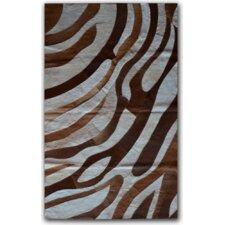 Brown/White Safari Area Rug