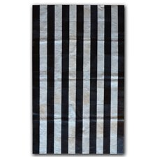 Black/White Stripe Area Rug