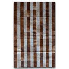 Brown/White Stripe Area Rug