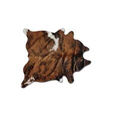 Sienna Cowhide Brown & White Area Rug