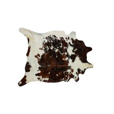 Sienna Cowhider Brown/White Area Rug