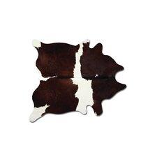 Sienna Cowhide Chocolate/White Area Rug