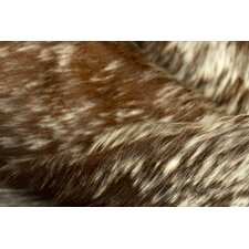 Sienna Cowhide Brown/White Area Rug