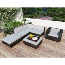 Beach Grove Park Terrace 6 Piece Deep Seating Group with Cushions